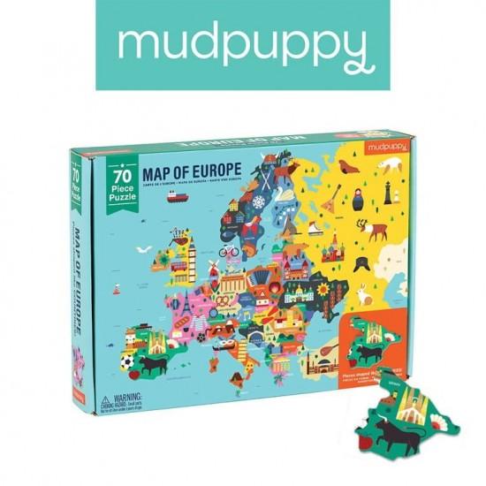 Mudpuppy Puzzle Mapa Europy...