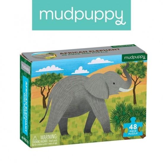 Mudpuppy Puzzle mini Słoń...