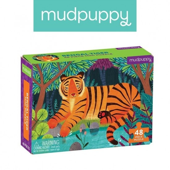 Mudpuppy Puzzle mini Tygrys...