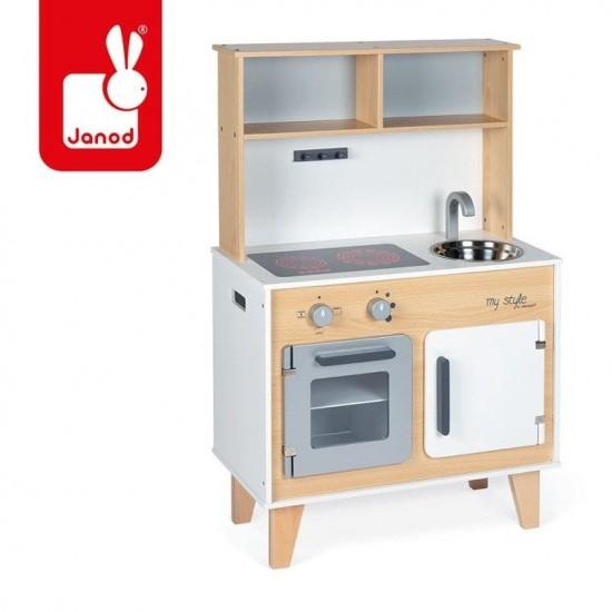 Duża kuchnia drewniana z...