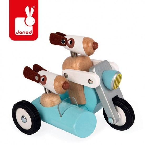 Drewniany motocykl z...