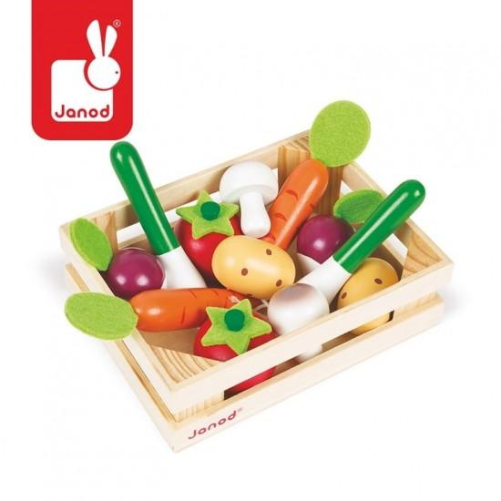 Warzywa drewniane 12 szt. w...