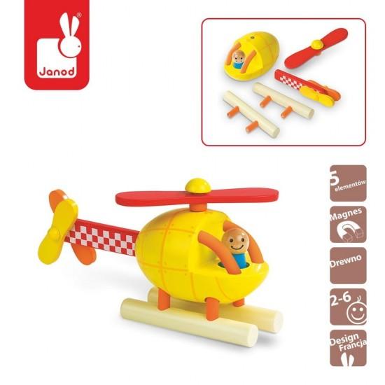 Helikopter drewniany...