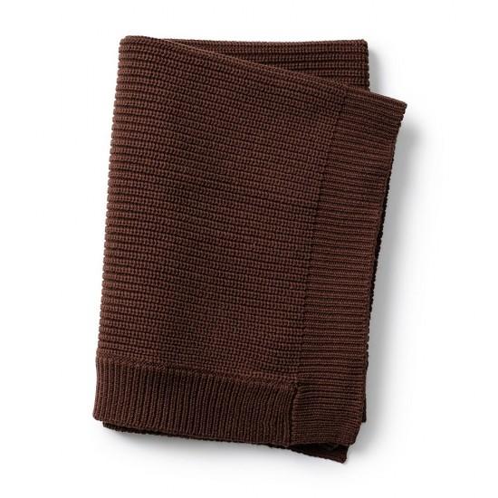 Elodie Details  Kocyk wełniany  Chocolate