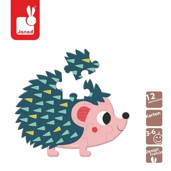 Mini puzzle Baby Forest Jeż...