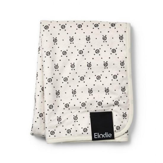 Elodie Details  Kocyk Pearl Velvet  Monogram
